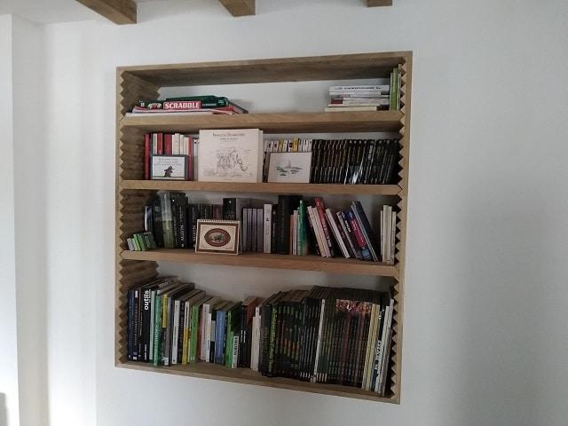 Agencement intérieur bibliothèque sur mesure SillageBoisMetal