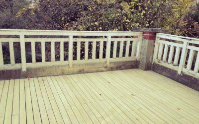 Terrasse d'un balcon à LAVAL (53)