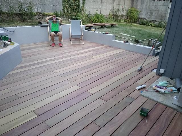 Réalisation d'une terrasse en cumaru à CHARTRES (28)