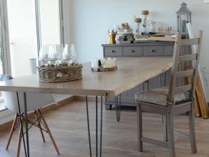 meuble sur mesure table à manger SillageBoisMetal