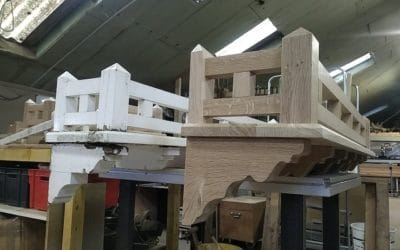 En ce moment à l'atelier – Refabrication de balconnets à LAVAL (53)